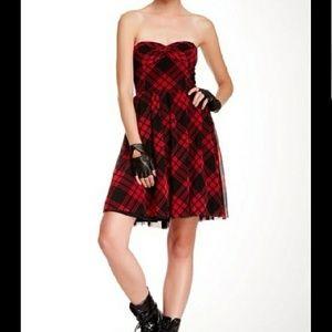 Betsey Johnson - NWT Plaid skater party dress